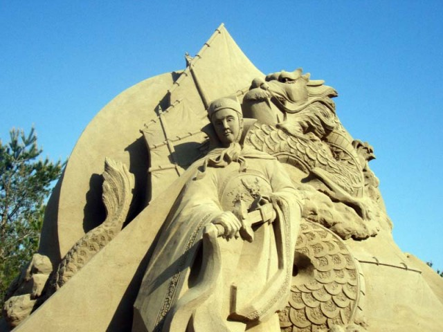 Japan-2011-World-Sand-Sculpting-Academy-Minami-Satsuma-Sandsculpture-Carving-dragon